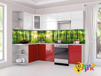 Фото: Кухонные скинали Лес