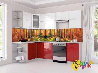Фото: Кухонные скинали Осенний лес