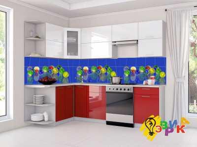 Фото: Кухонные скинали шары 3Д