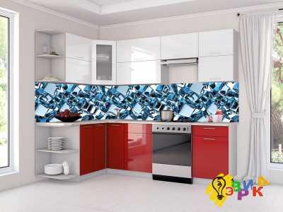 Фото: Кухонные скинали 3Д абстракция