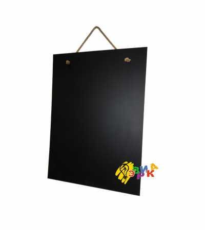 Фото: Доска для мела черная на канате А1 без рамы