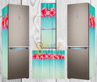 Фото: Дизайнерские наклейки на холодильник Тюльпан