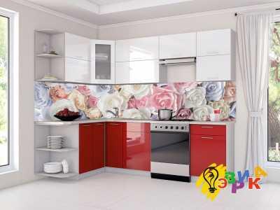 Фото: Кухонные скинали Розы 3Д