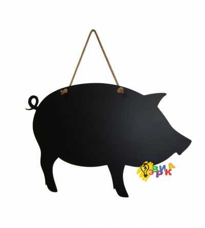 Фото: Меловая доска премиум Свинья на канате