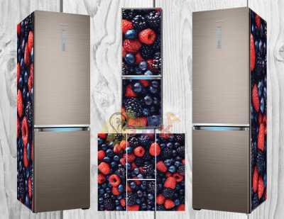 Фото: Дизайнерские наклейки на холодильник Фрукты микс