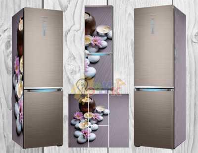 Фото: Дизайнерские наклейки на холодильник Спа