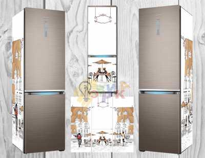 Фото: Дизайнерские наклейки на холодильник Мистериум