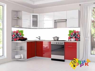 Фото: Кухонные скинали Фруктовый микс на белом фоне