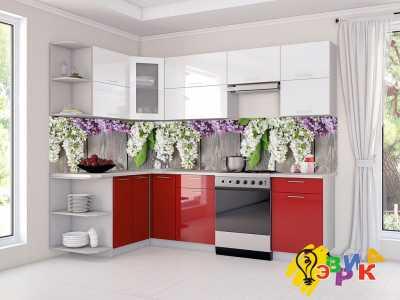 Фото: Кухонные скинали Сирень