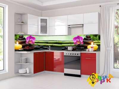 Фото: Кухонные скинали Фиолетовая орхидея