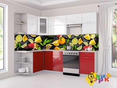 Фото: Кухонные скинали Фруктовые дольки