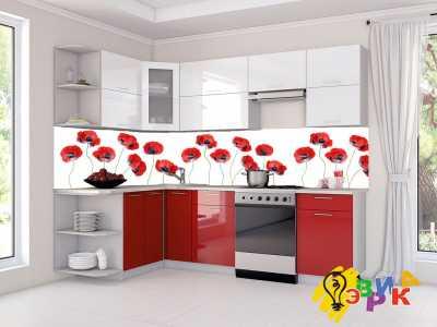 Фото: Кухонные скинали Маки минимализм