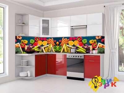 Фото: Кухонные скинали Овощи микс