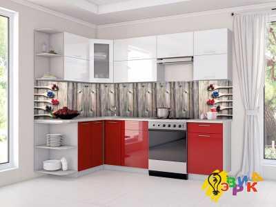 Фото: Кухонные скинали Ягоды на деревянном фоне