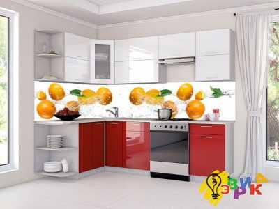 Фото: Кухонные скинали Мандарины