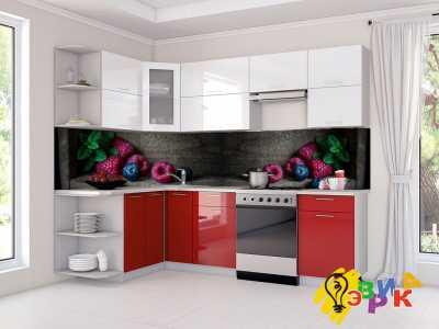 Фото: Кухонные скинали Ягоды на темном фоне