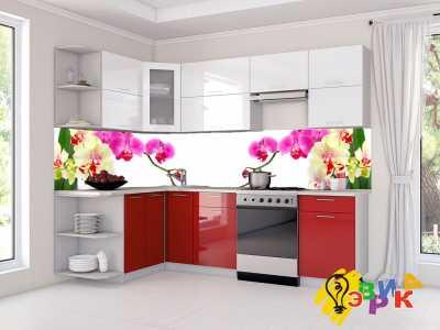 Фото: Кухонные скинали Орхидеи