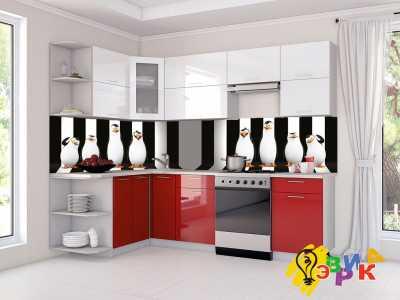 Фото: Кухонные скинали Пингвины