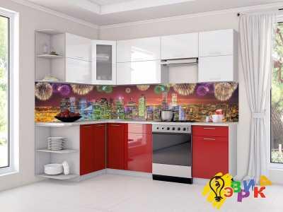 Фото: Кухонные скинали Праздничный город