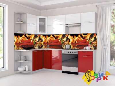 Фото: Кухонные скинали Перчик
