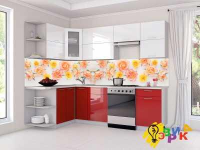 Фото: Кухонные скинали Розы
