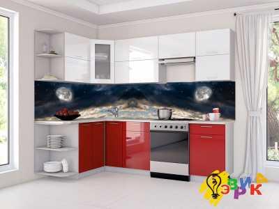 Фото: Кухонные скинали Небо