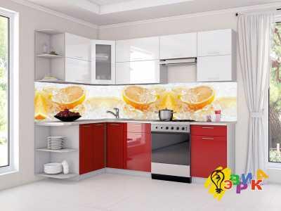 Фото: Кухонные скинали Апельсины во льду