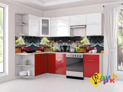 Фото: Кухонные скинали Овощи в брызгах воды