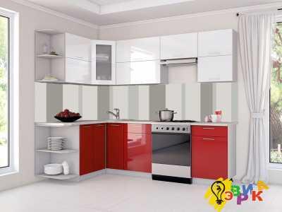 Фото: Кухонные скинали Хайтек беж