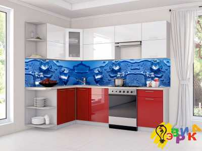 Фото: Кухонные скинали Кубики льда