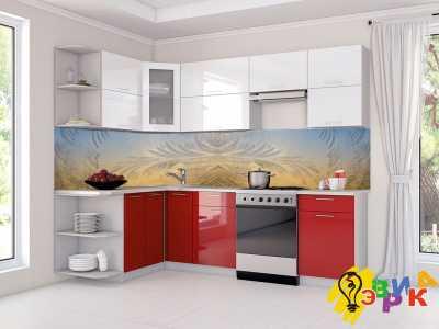 Фото: Кухонные скинали Изморозь
