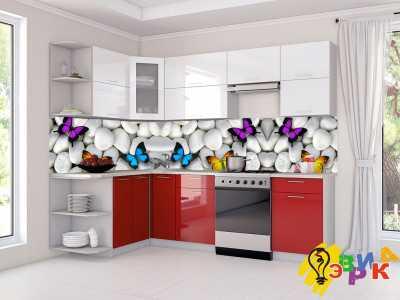 Фото: Кухонные скинали Бабочки