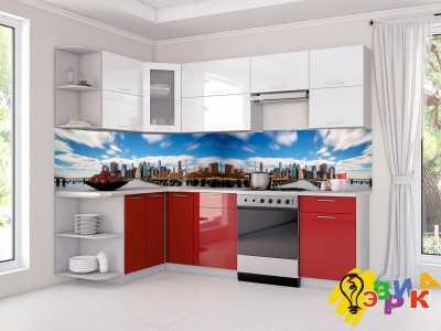 Фото: Кухонные скинали Город 3Д