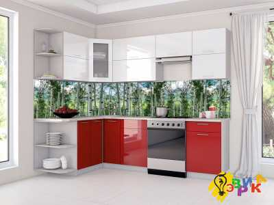 Фото: Кухонные скинали Березовая роща