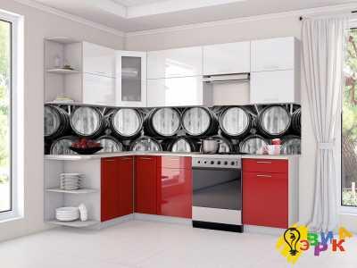 Фото: Кухонные скинали Винные бочки