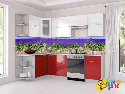 Фото: Кухонные скинали Лаванда