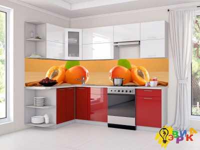 Фото: Кухонные скинали Абрикос