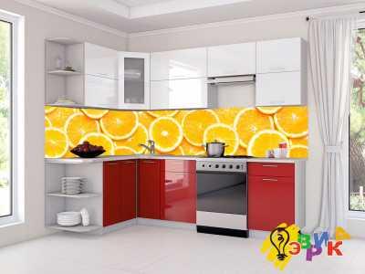 Фото: Кухонные скинали Апельсин