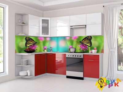 Фото: Кухонные скинали Бабочки микс