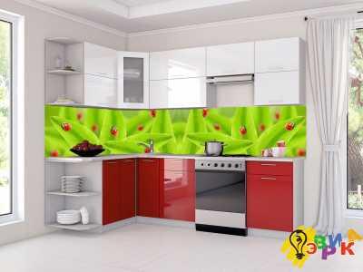 Фото: Кухонные скинали Божьи коровки