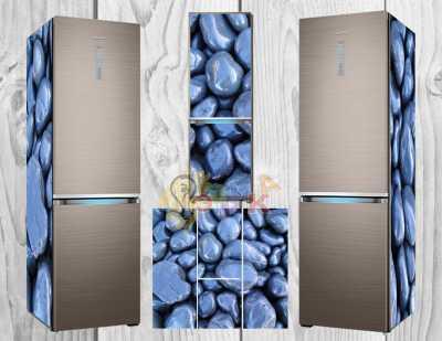 Фото: Дизайнерские наклейки на холодильник Камни