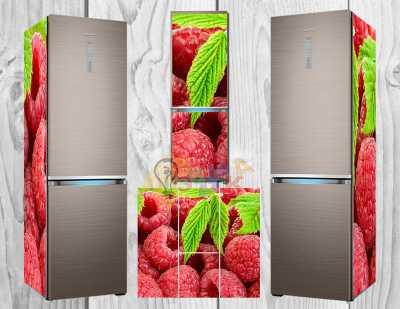 Фото: Дизайнерские наклейки на холодильник Малина