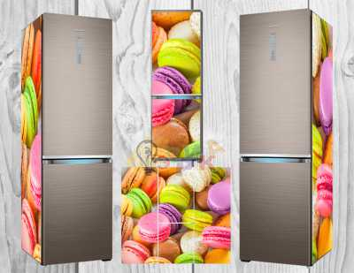 Фото: Дизайнерские наклейки на холодильник Вкусняшки