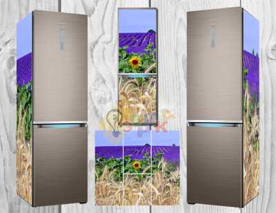 Фото: Дизайнерские наклейки на холодильник Пшеница