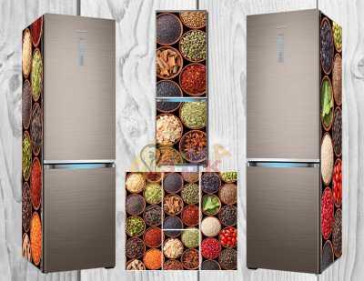 Фото: Дизайнерские наклейки на холодильник Специи
