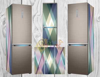 Фото: Дизайнерские наклейки на холодильник Абстракция 3Д