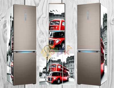 Фото: Дизайнерские наклейки на холодильник Англия