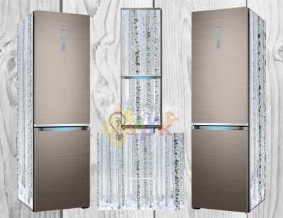 Фото: Дизайнерские наклейки на холодильник Березки