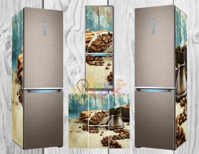 Фото: Дизайнерские наклейки на холодильник Кофе