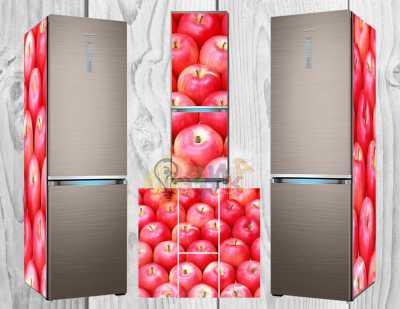 Фото: Дизайнерские наклейки на холодильник Яблоки